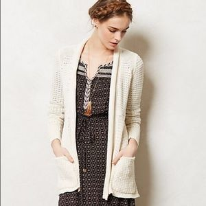 Anthro Angel of the North Ivory Matinee Cardigan